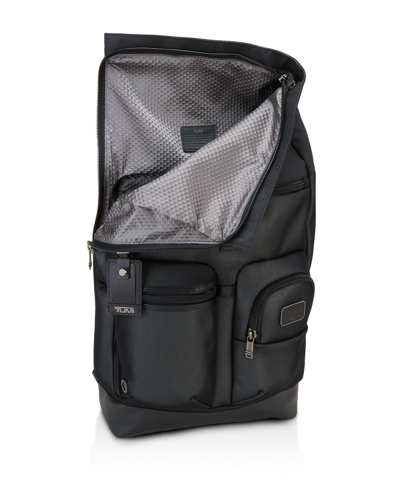 Lyst - Tumi Alpha Bravo Reflective Luke Roll-top Backpack in Black ... e21f3f250fd54