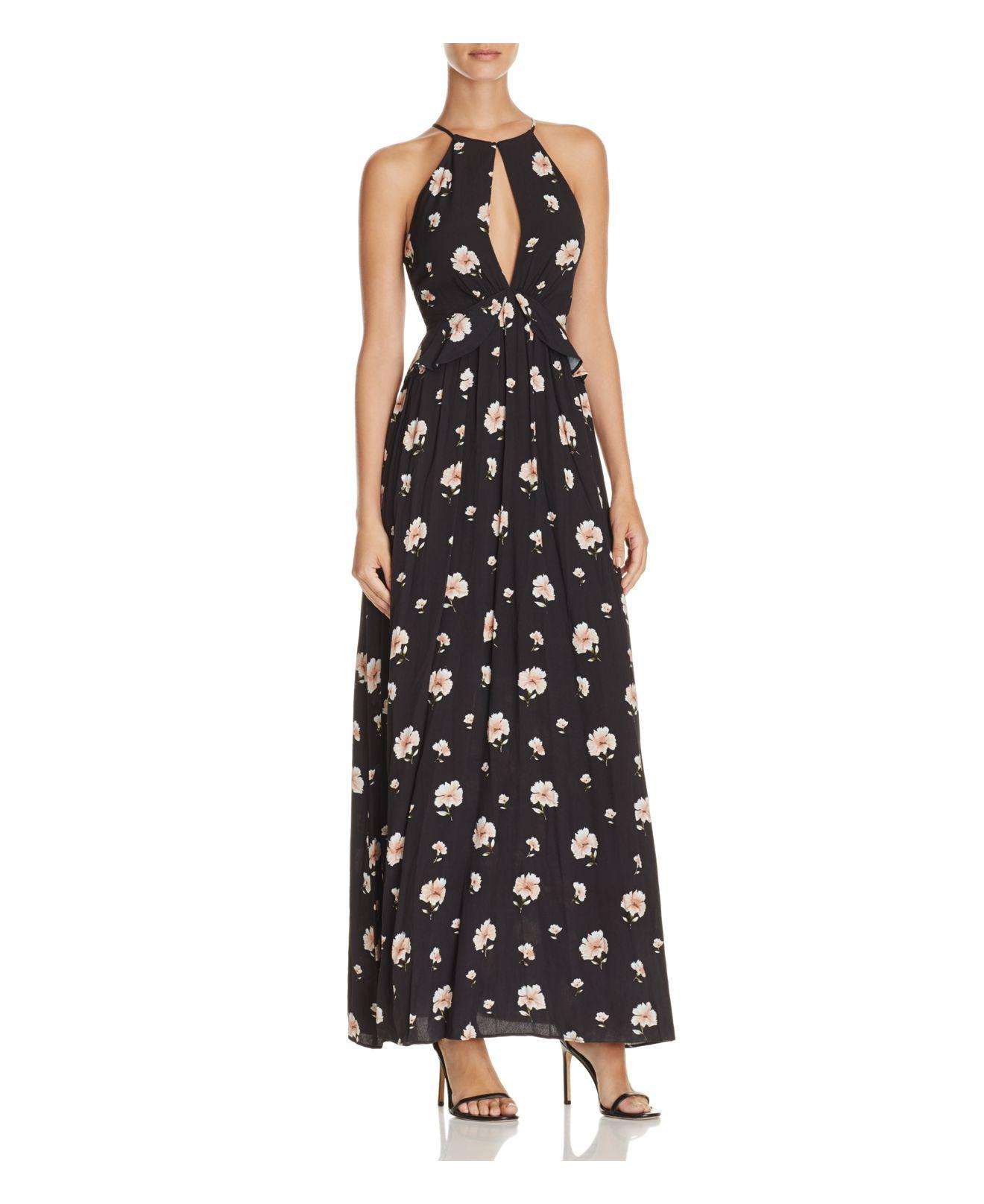 Lyst lucy paris isabella maxi dress in black for Isabella paris