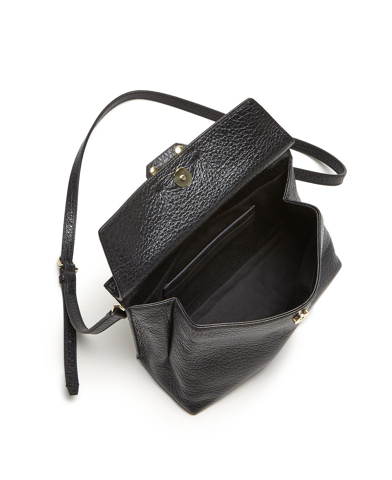 Lyst Etienne Aigner Althea Small Leather Satchel In Black