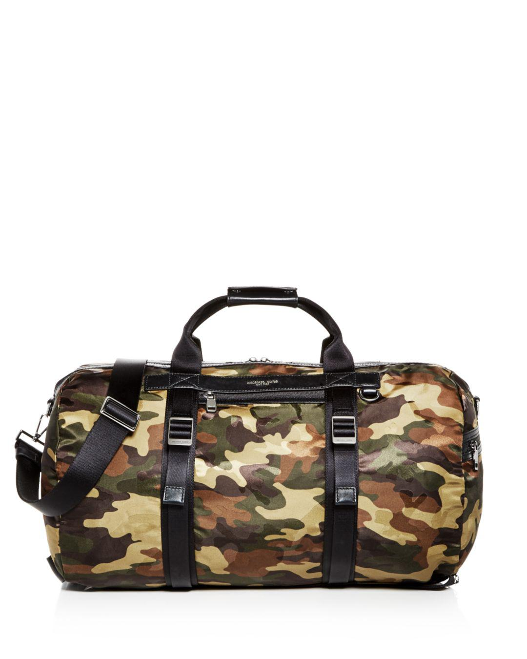 ba61cb7d096a Michael Kors. Men's Green Kent Camo-print Nylon Convertible Duffel Bag