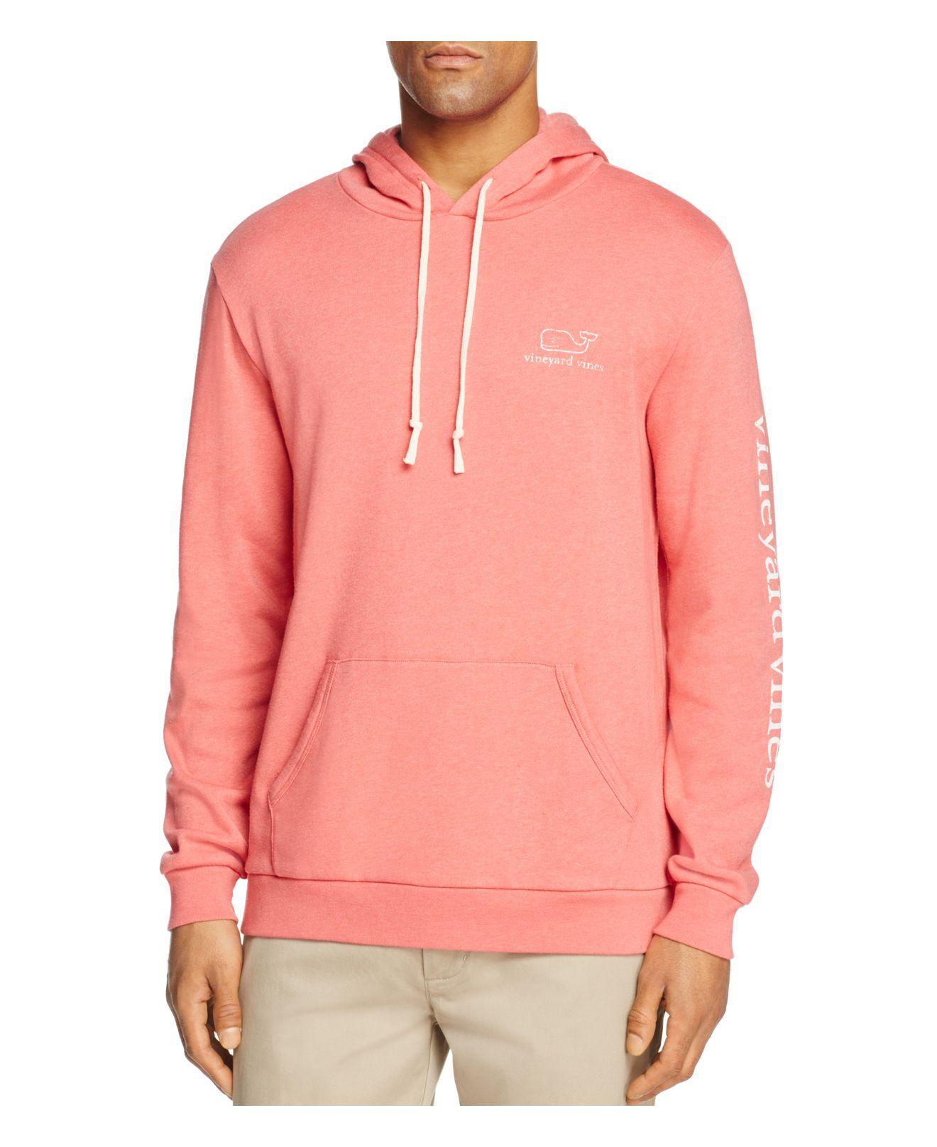 Vineyard Vines Vintage Whale Hooded Sweatshirt In Pink For