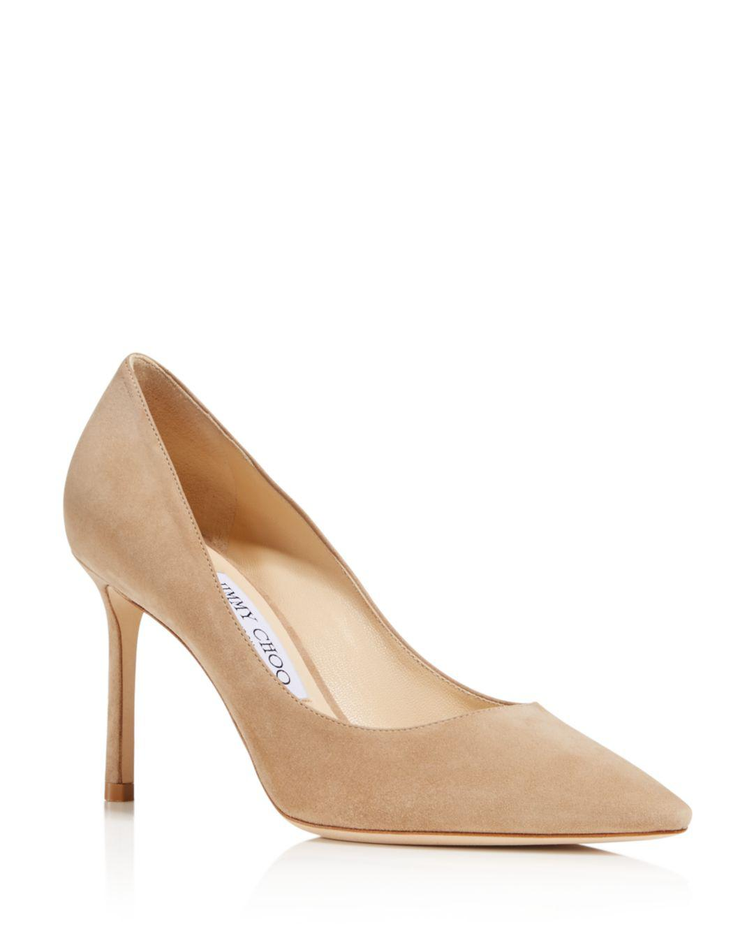 56c9e7c716 Lyst - Jimmy Choo Women's Romy 85 Pointed-toe Pumps in Natural - Save 8%