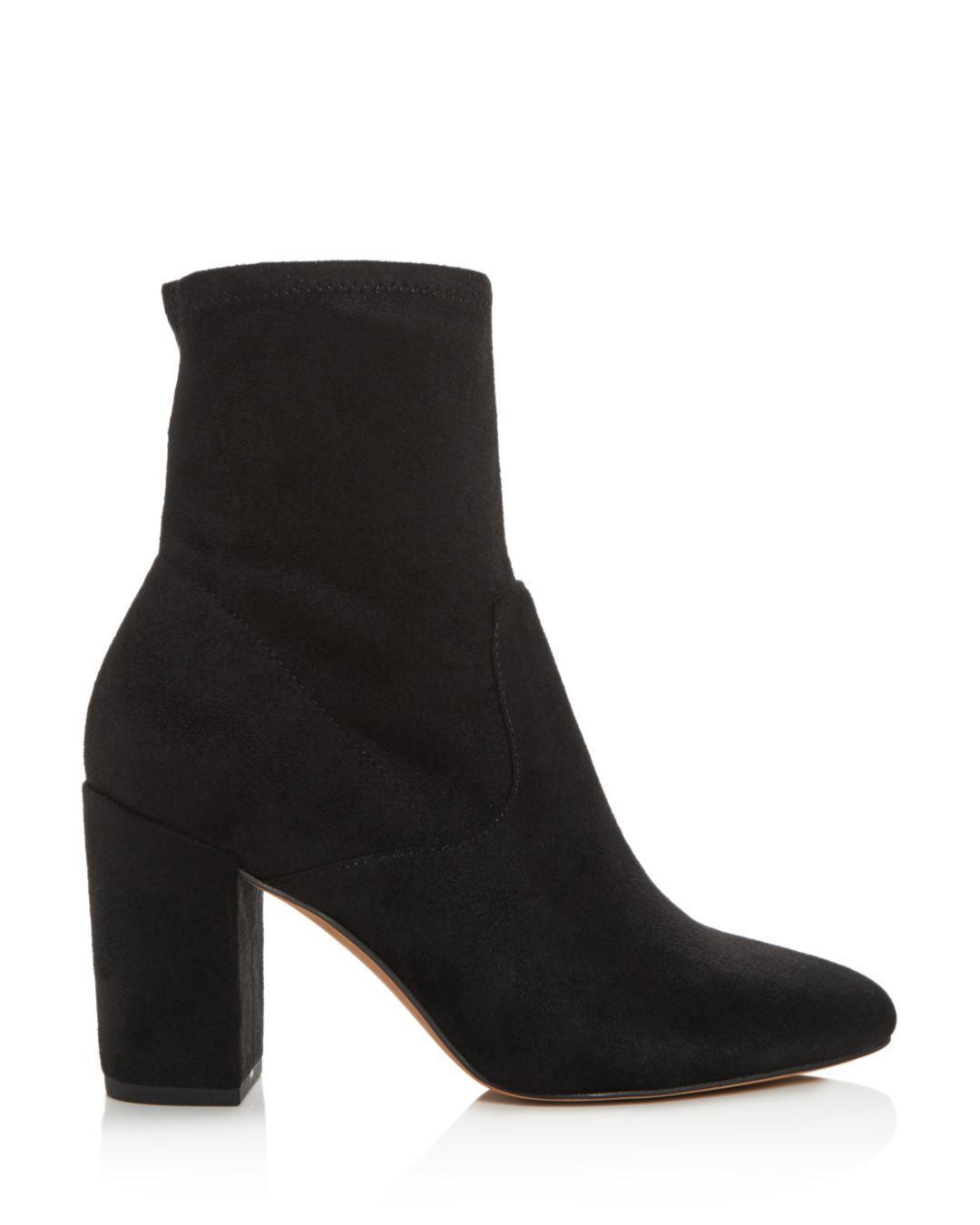 a0054602aae Lyst - Rebecca Minkoff Women s Gianella High Block-heel Booties in Black