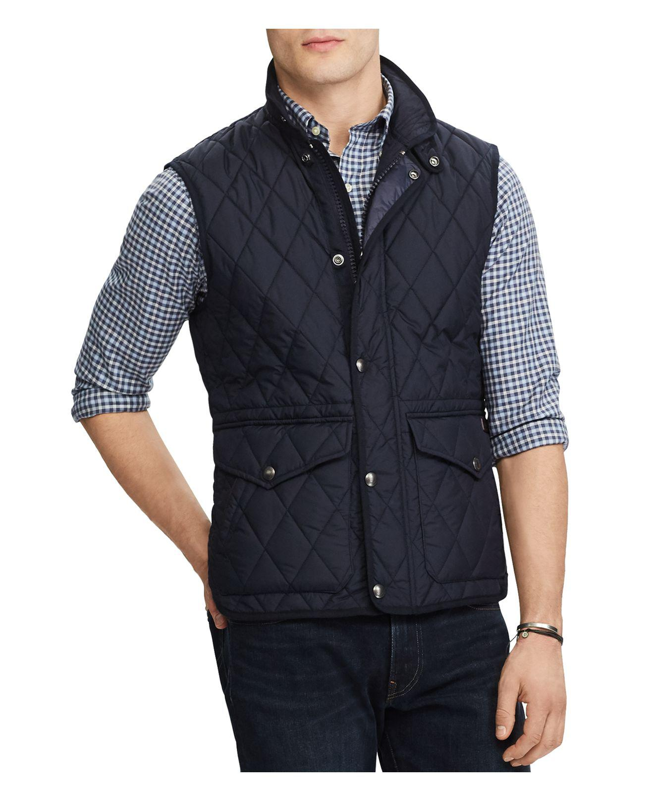 Lyst - Polo Ralph Lauren Iconic Quilted Vest in Blue for Men