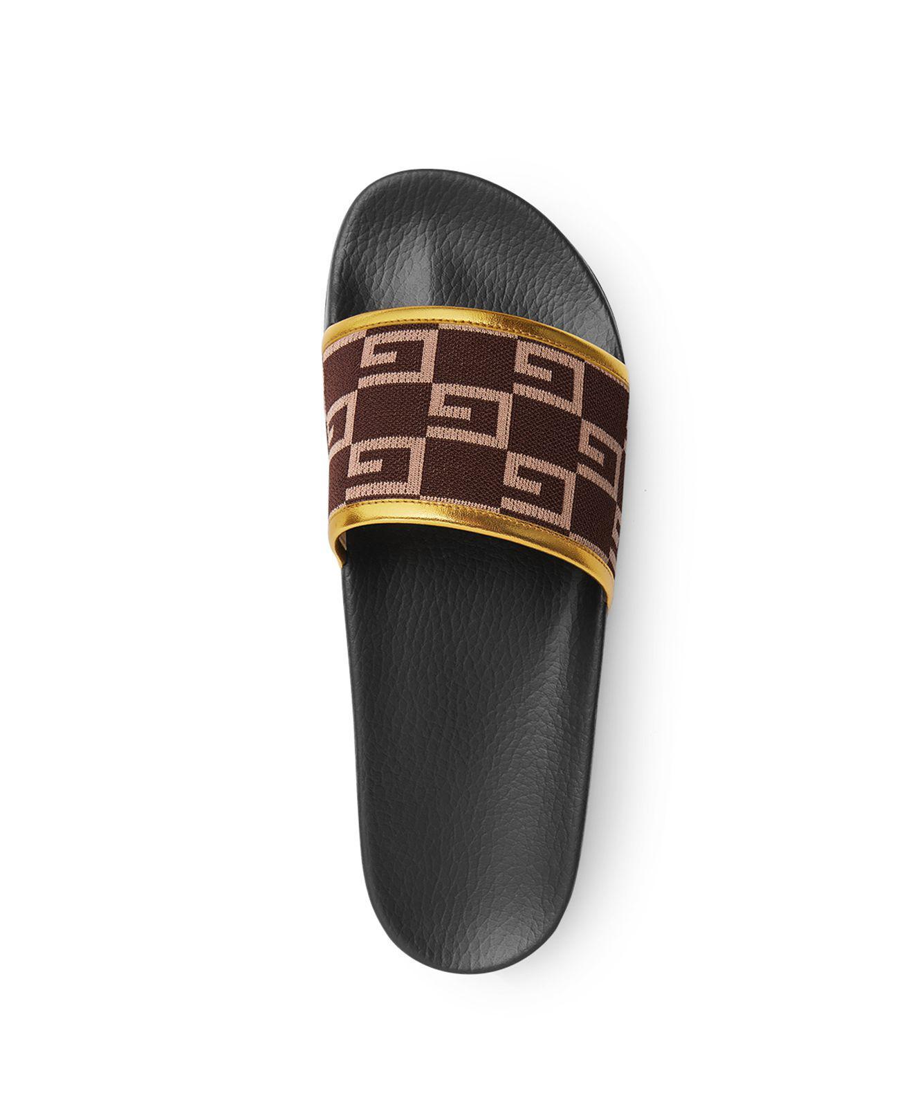 a0ffe7ec7148 Lyst - Gucci Pursuit Knit Slide Sandals for Men