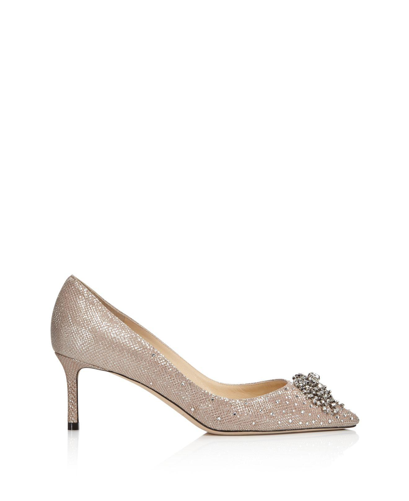 Jimmy choo Women's Joan 60 Glitter Mesh & Leather Pointed Toe Mid Heel Pumps T6CzxkIwh