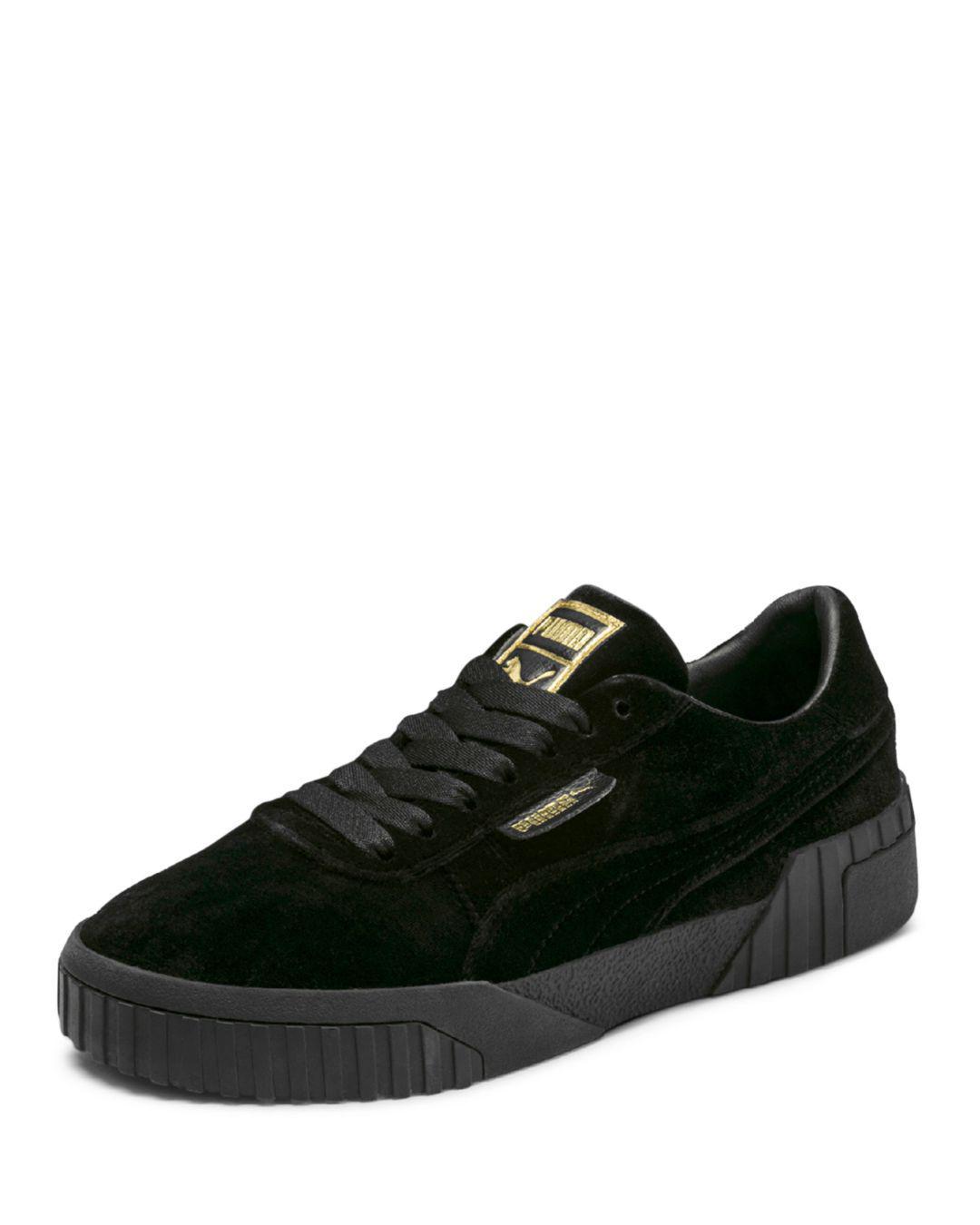Lyst Velvet Sneakers Lilla Cali In Topp Puma Kvinner Black qqw67ag 1a43c203d