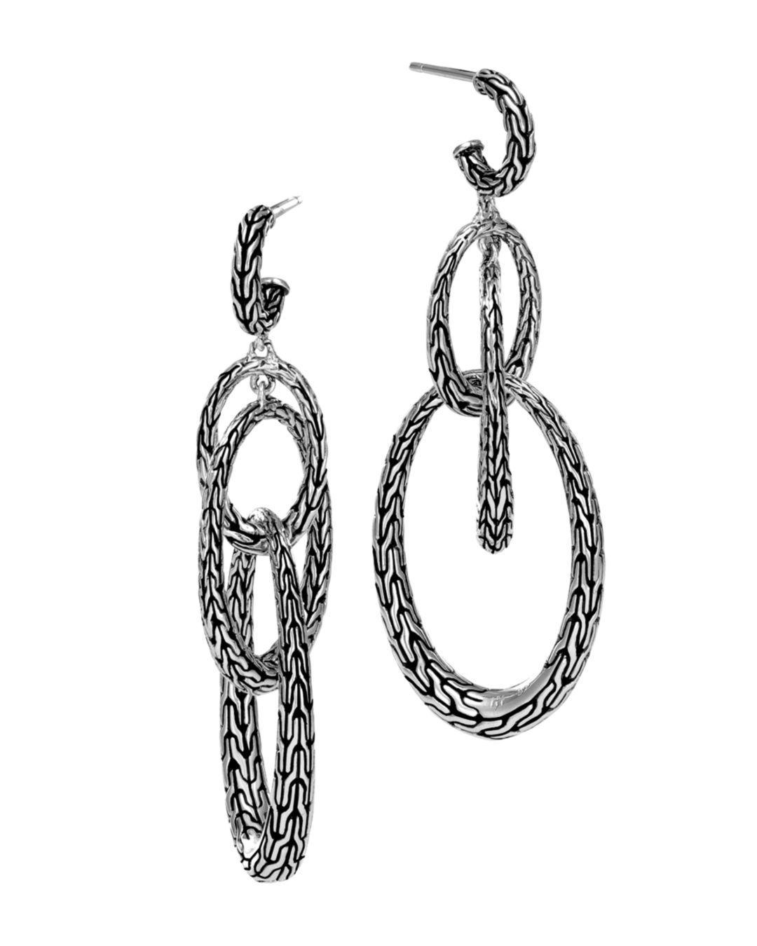 998b9e2ce John Hardy. Women's Metallic Sterling Silver Classic Chain Drop Earrings