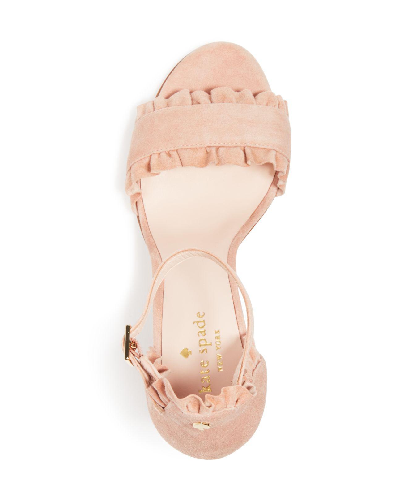 1c31dc4798c Lyst - Kate Spade Women s Odele Suede High-heel Sandals in Pink