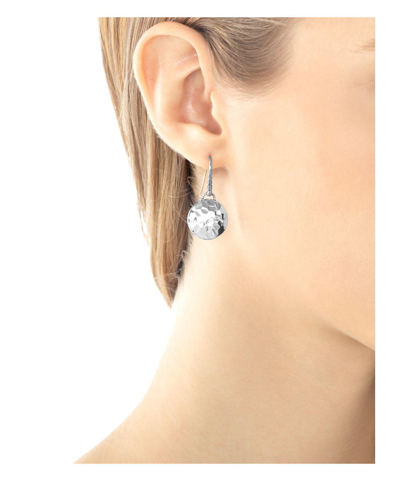 John Hardy Bamboo Silver Drop Earrings with Pearls MrfcPx7z
