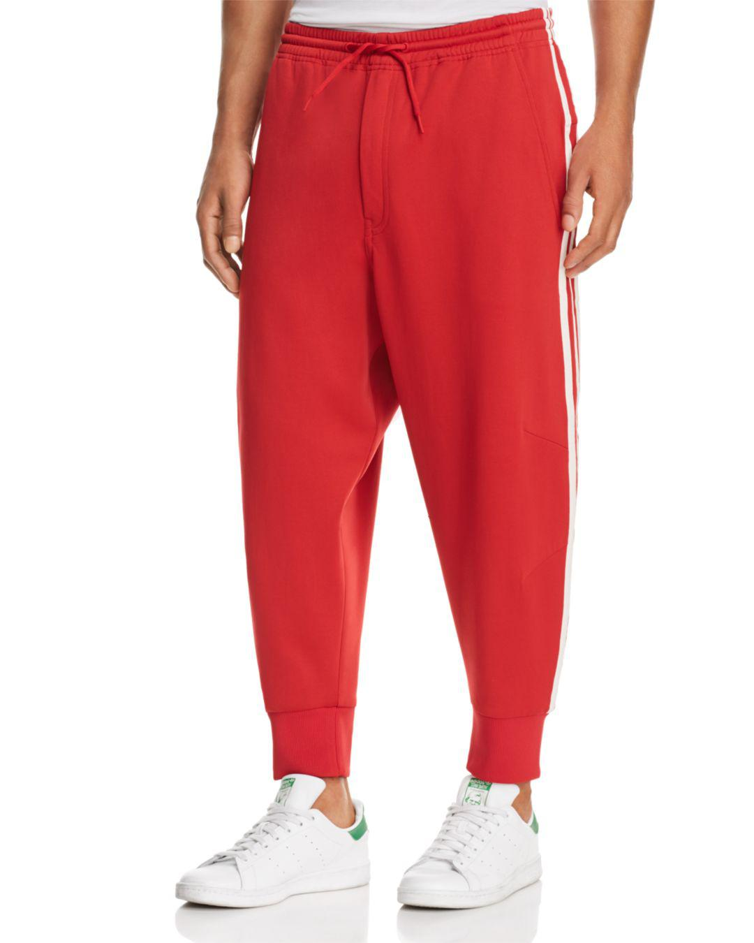 25ff62187 Lyst - Y-3 Three Stripes Track Pants in Red for Men