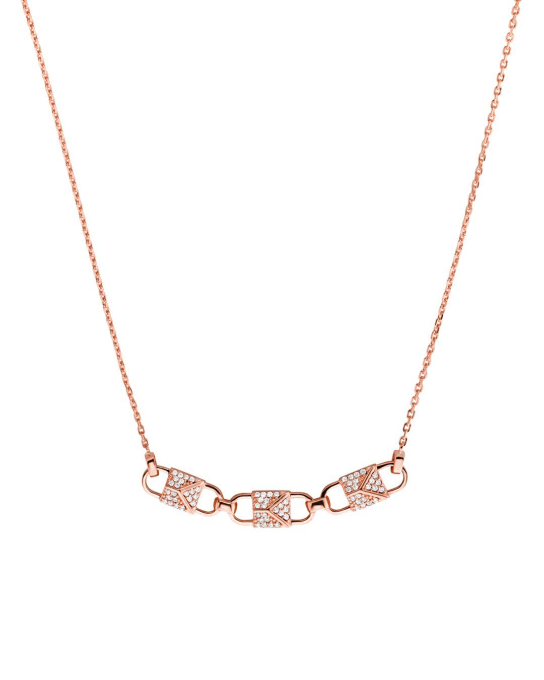 47c3aa59786a2 Lyst - Michael Kors 14k Rose Gold-plated Sterling Silver Or Sterling ...
