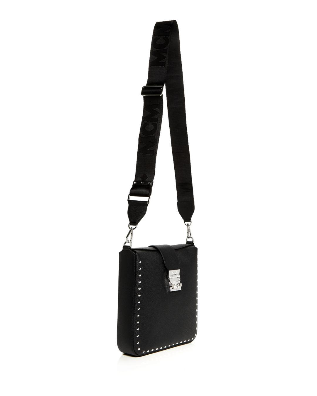 Lyst - MCM Kasion Park Avenue Studded Leather Crossbody in Black 6e8cdeba344ca