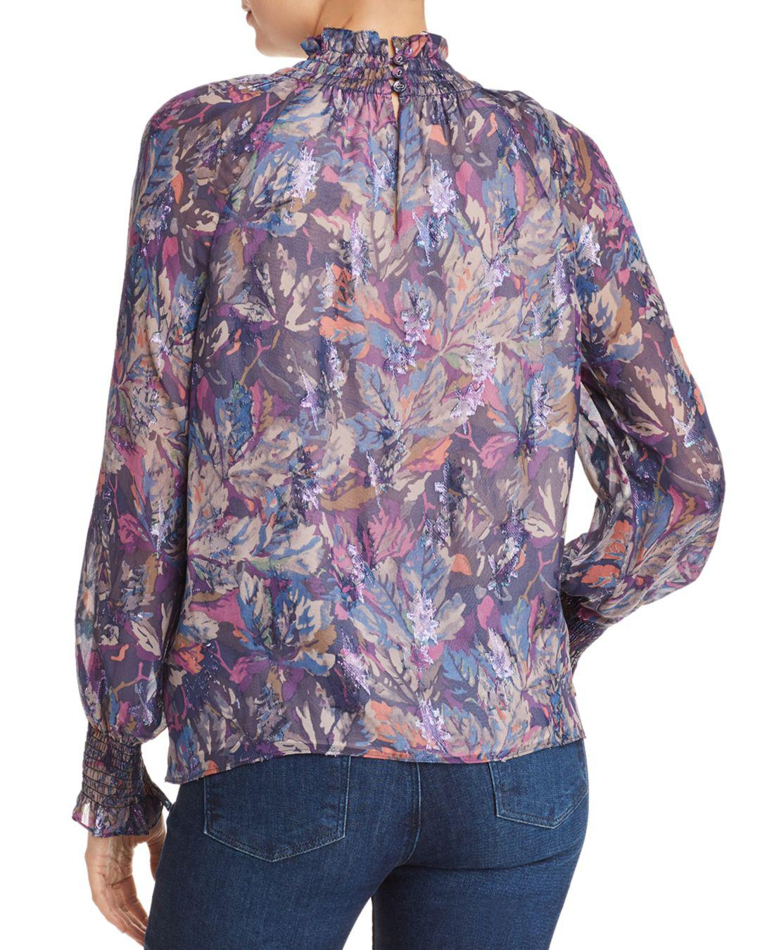 8b7a1b654ac388 Lyst - Rebecca Taylor Giverny Floral Blouse