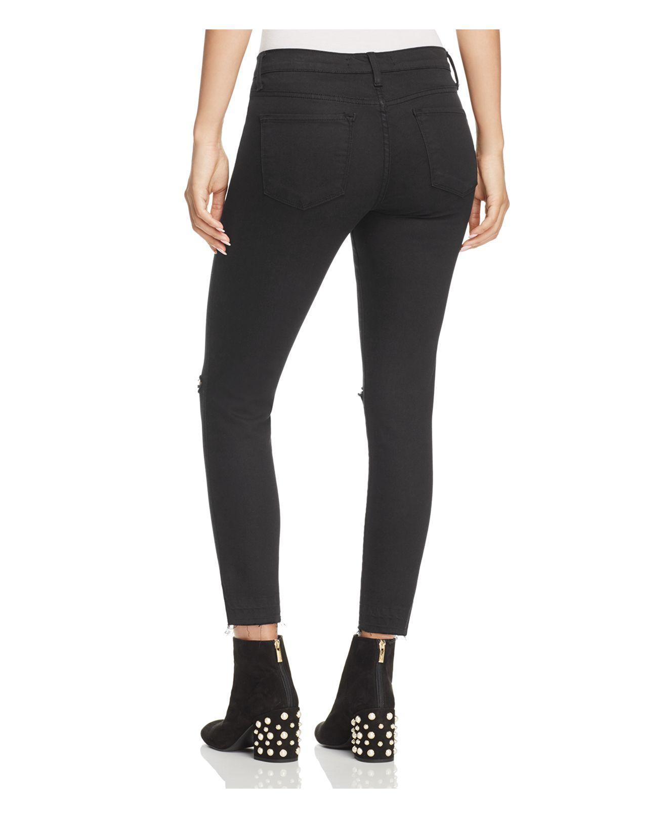 c8053065f09 Lyst - Flying Monkey Ripped Knee Skinny Jeans In Black in Black