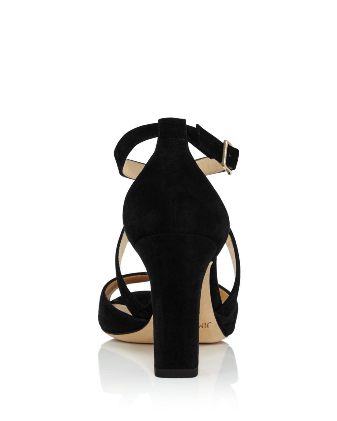 322a326d4cc Lyst - Jimmy Choo Women s Carrie 85 Suede Crisscross High-heel ...