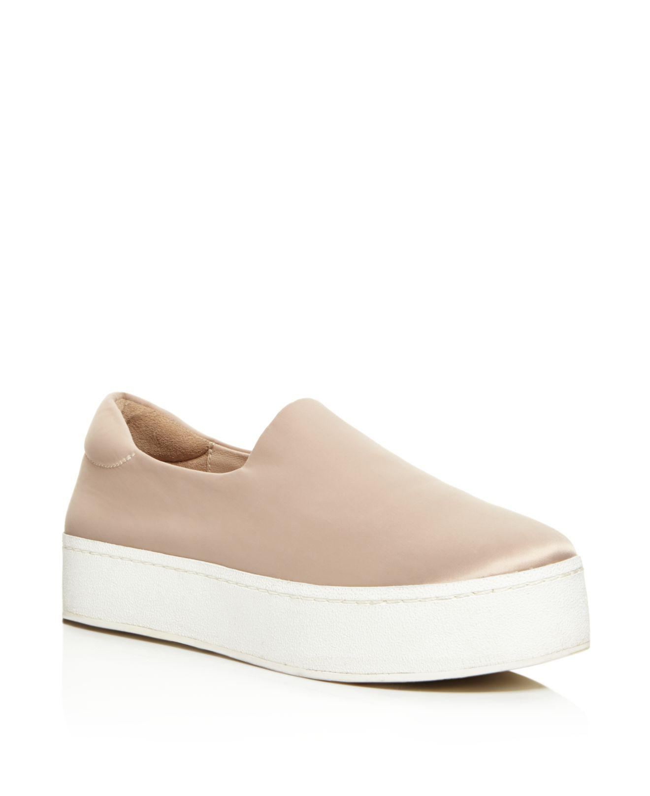 Opening Ceremony Beige Satin Cici Platform Slip-On Sneakers iy73D