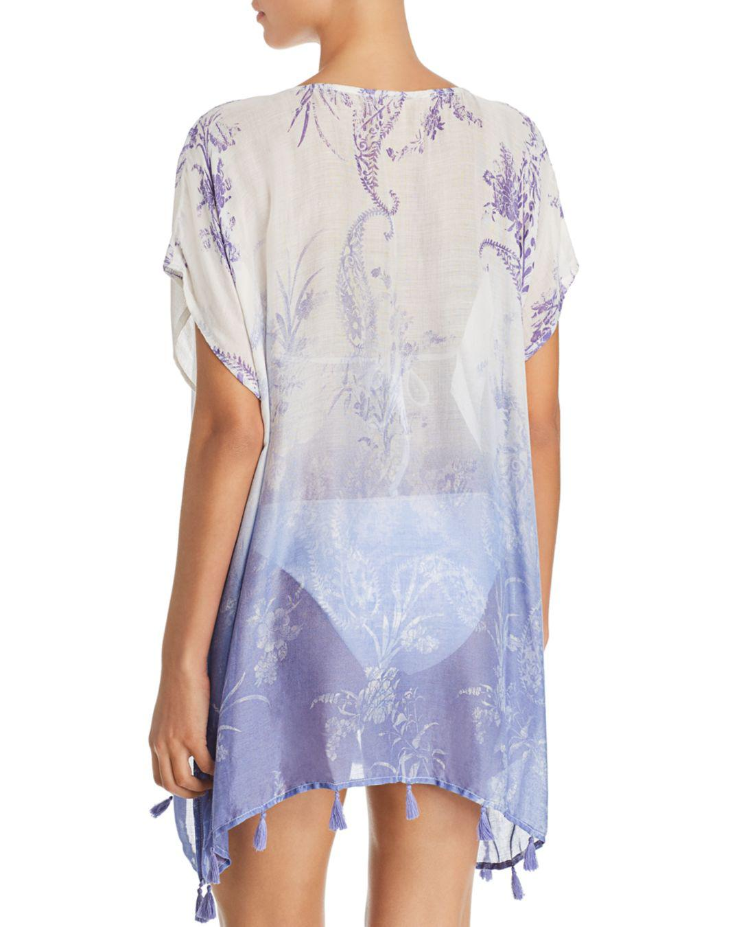 2f5d6899b79f1 Lyst - Surf Gypsy Ombré Paisley Print Tunic Swim Cover-up in Purple