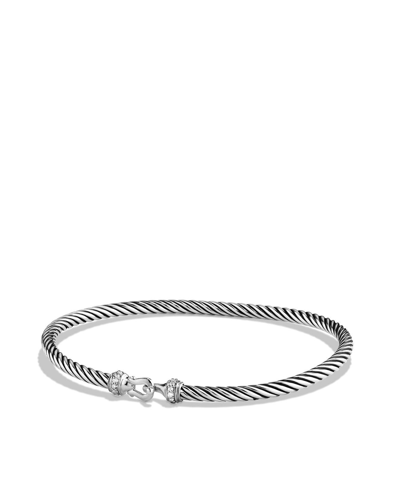 David Yurman Cable buckle bracelet - Metallic joptWwt
