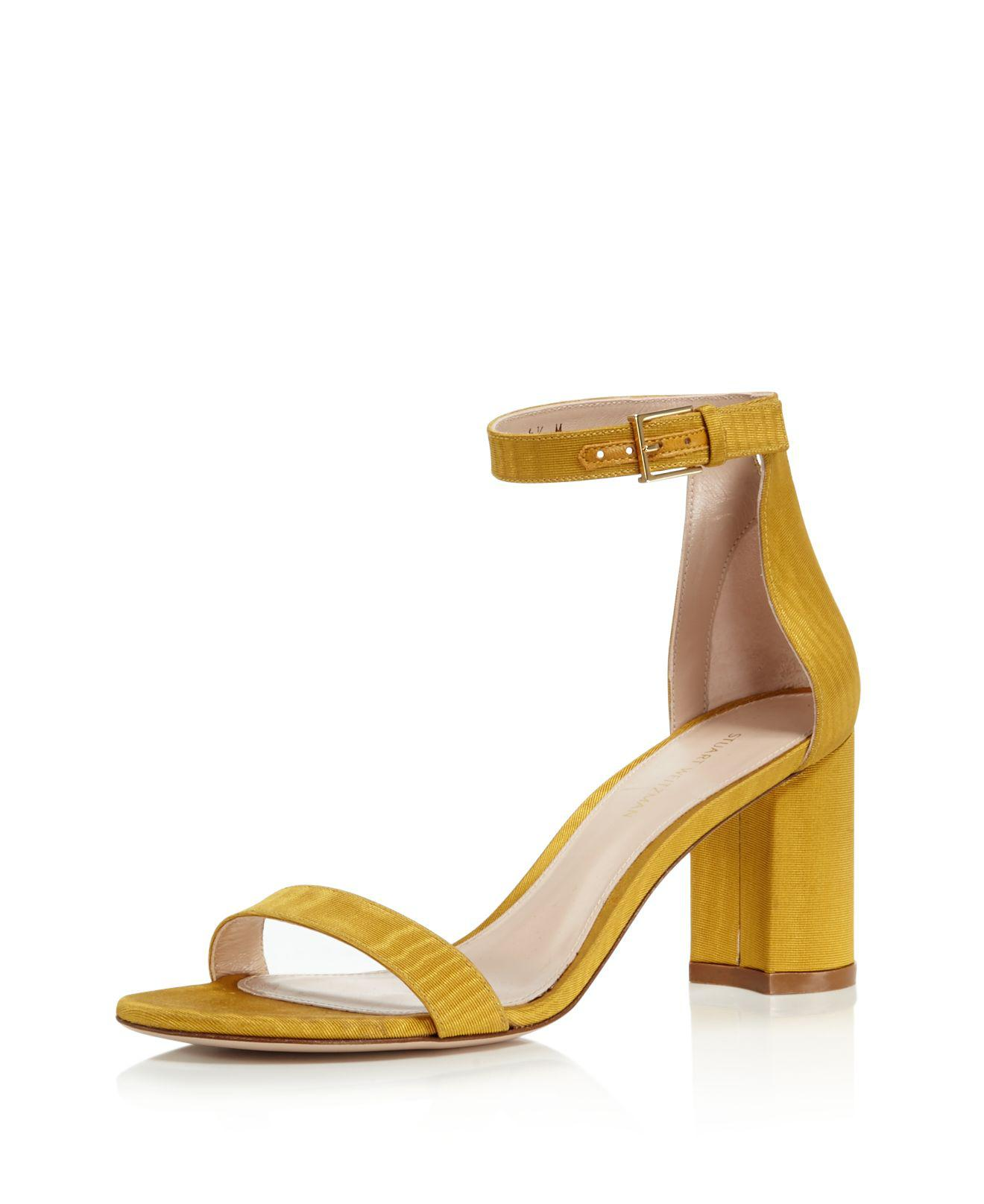 Stuart Weitzman Women's Lessnudist Grosgrain Ankle Strap Sandals 100% Guaranteed Sale Online Free Shipping Fast Delivery Authentic Best Place To Buy ER5Nnsur