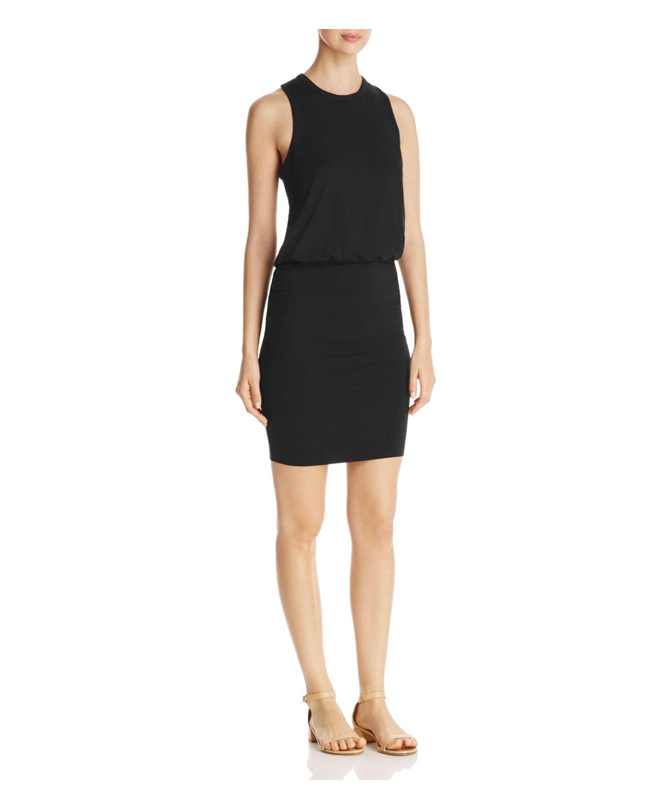 0b20d3590fa Lyst - Lilla P Ruched Skirt Tank Dress in Black