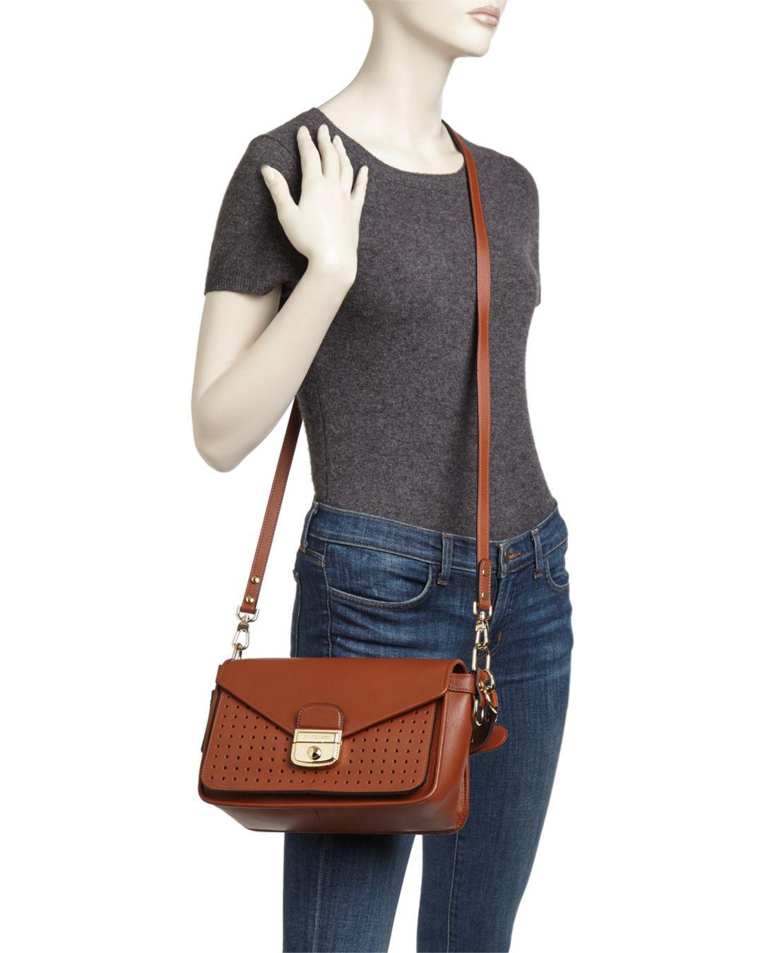 338343f15baa Lyst - Longchamp Mademoiselle Medium Crossbody in Brown - Save 18%