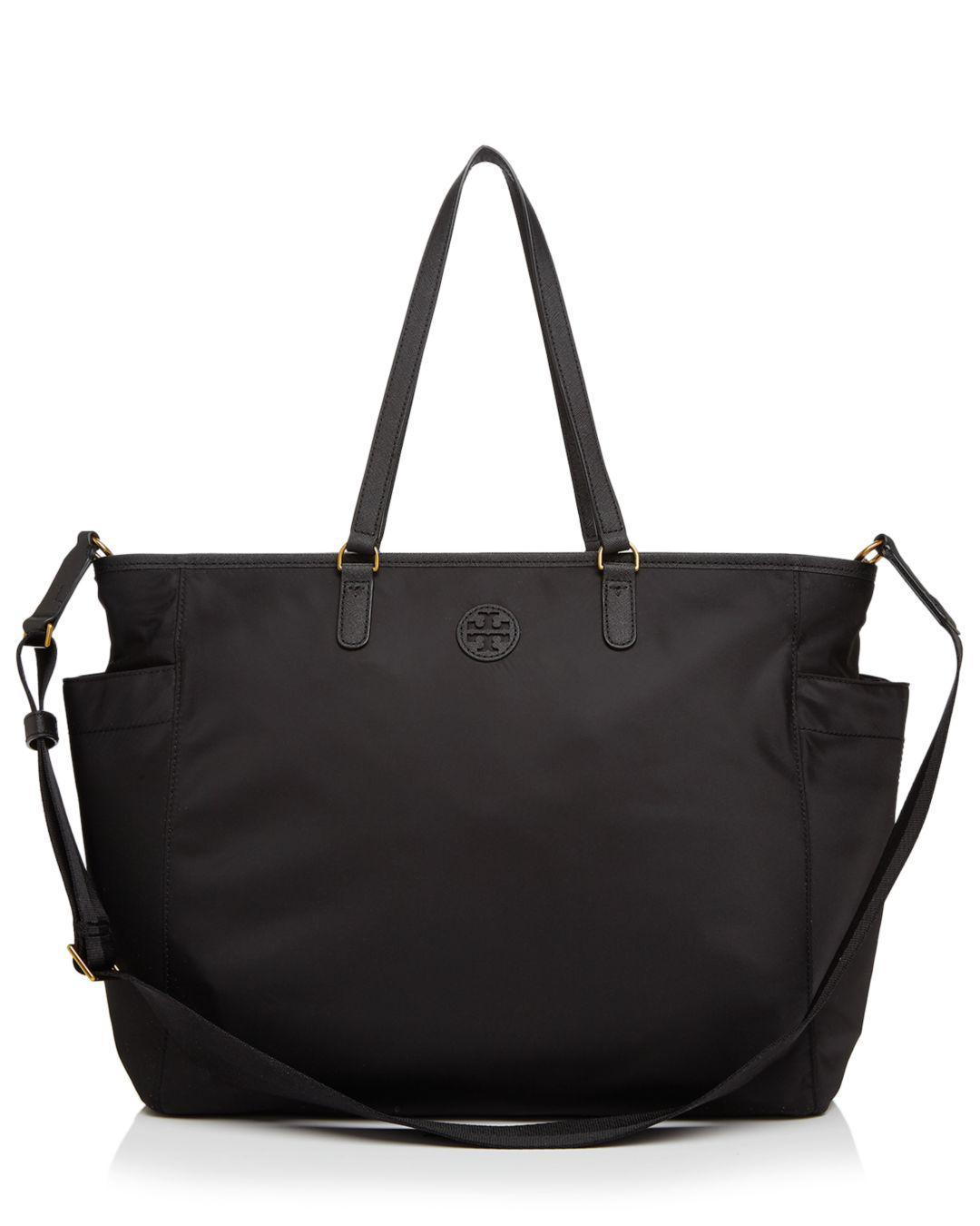 7f40667496f9 Lyst - Tory Burch Scout Nylon Diaper Bag in Black