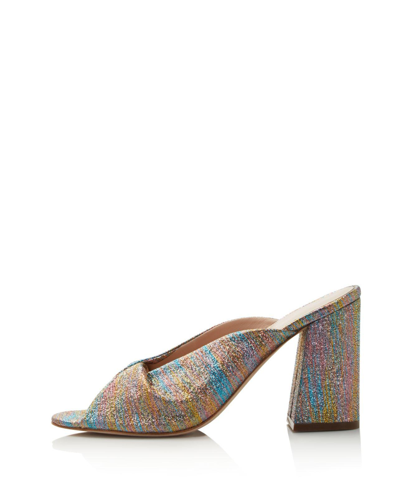 Loeffler Randall Women's Laurel Shimmer Block Heel Slide Sandals - 100% Exclusive cQZLV1GtR