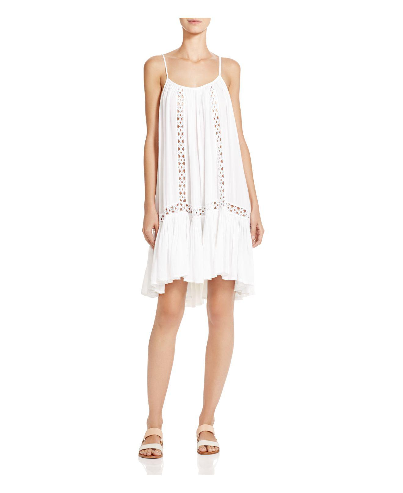 14d984ad65 Lyst - Boho Me Crocheted Trim Dress Swim Cover-up in White