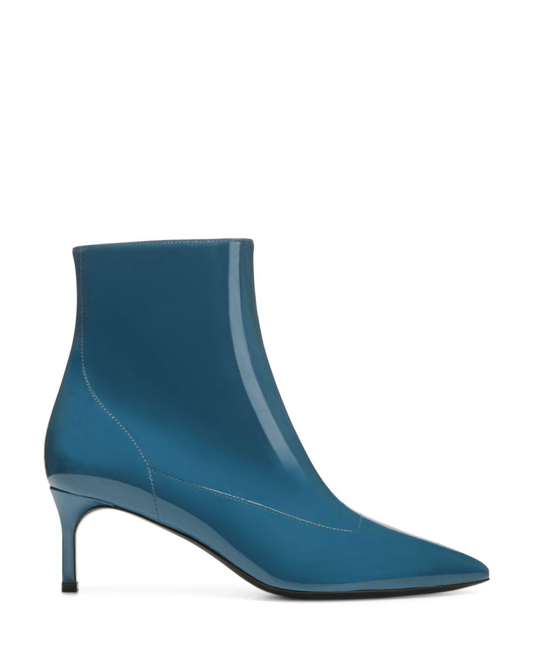 83f16a0668e Lyst - Via Spiga Women s Baronne Pointed Toe Kitten Heel Booties in Blue -  Save 40%