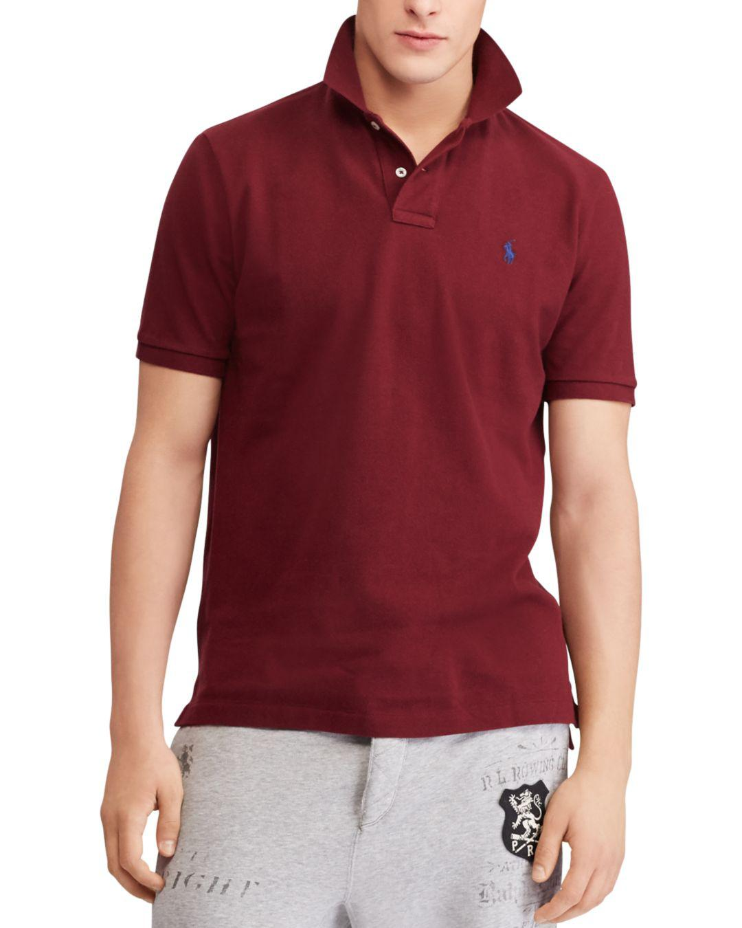 9566cd6f Lyst - Polo Ralph Lauren Polo Classic Fit Mesh Polo Shirt in Red for Men
