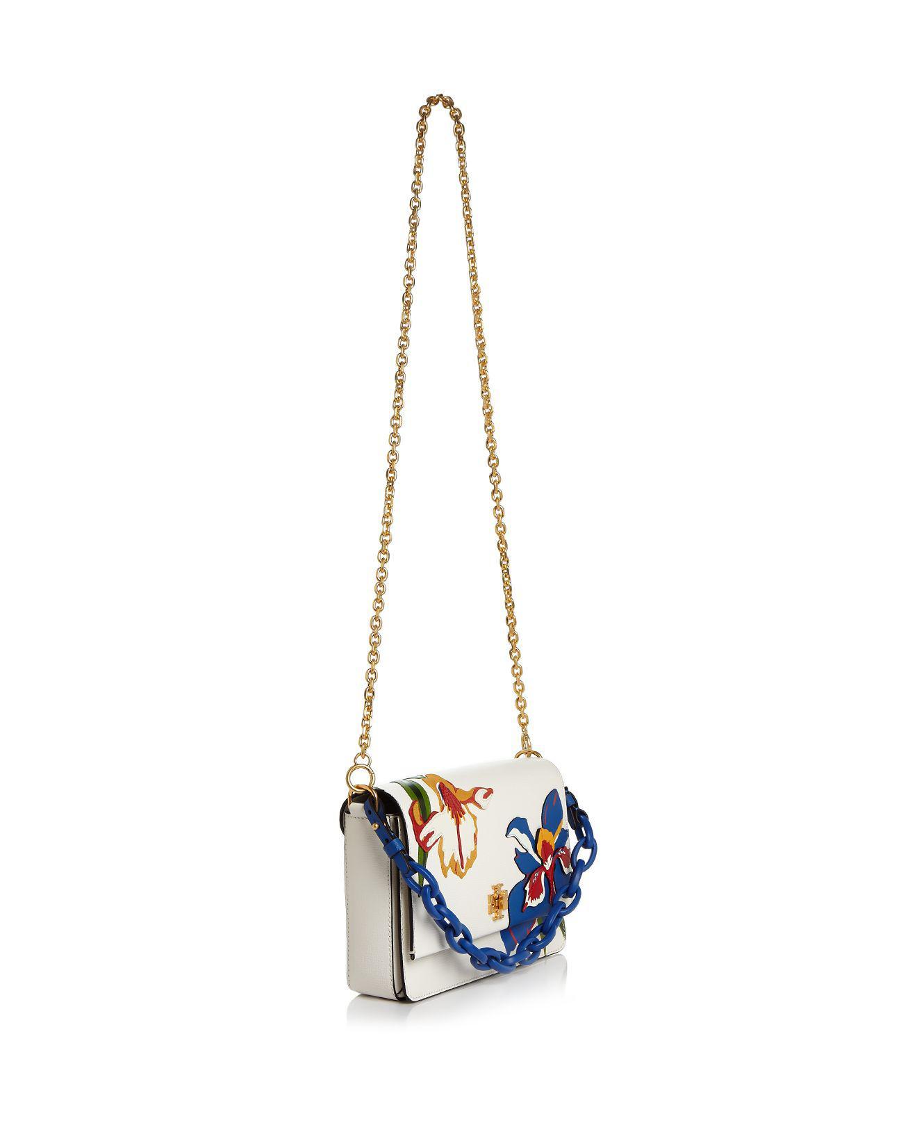 39663556bbe Lyst - Tory Burch Kira Applique Leather Shoulder Bag