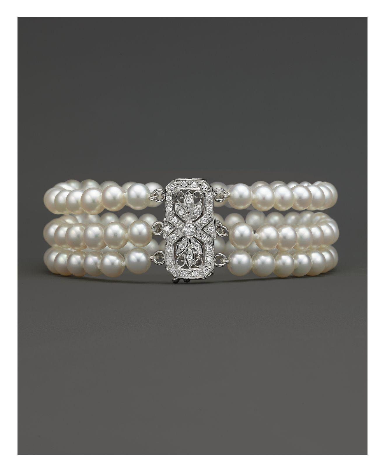 bracelet collections products grey pearl freshwater pearls
