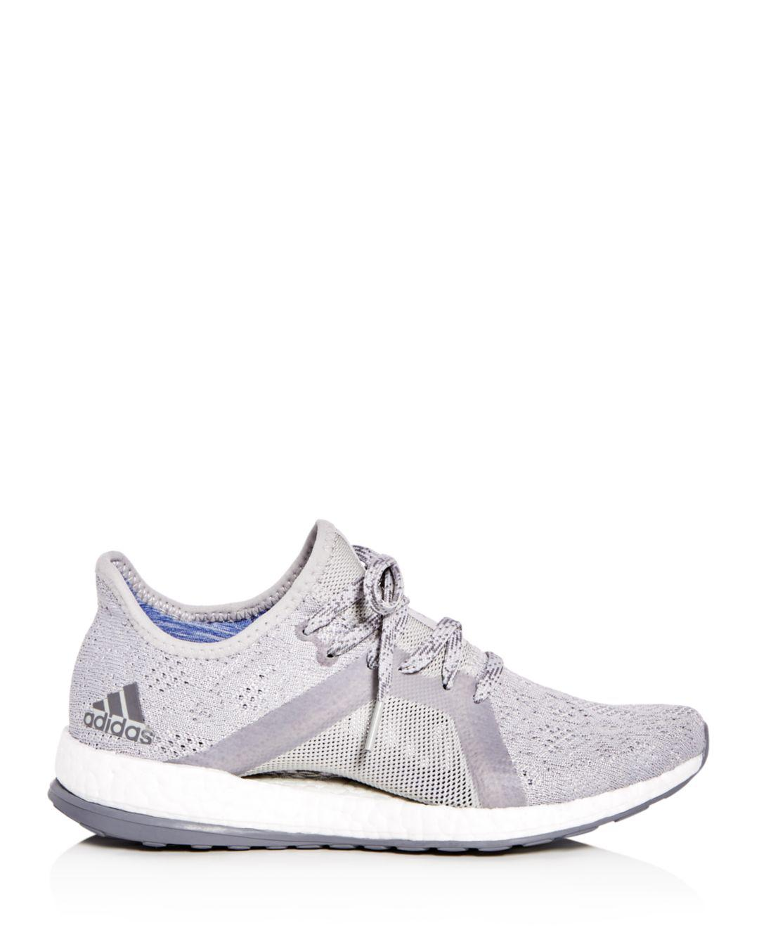04aaad6472e67 Lyst - adidas Women s Pureboost X Element Knit Lace Up Sneakers in Gray