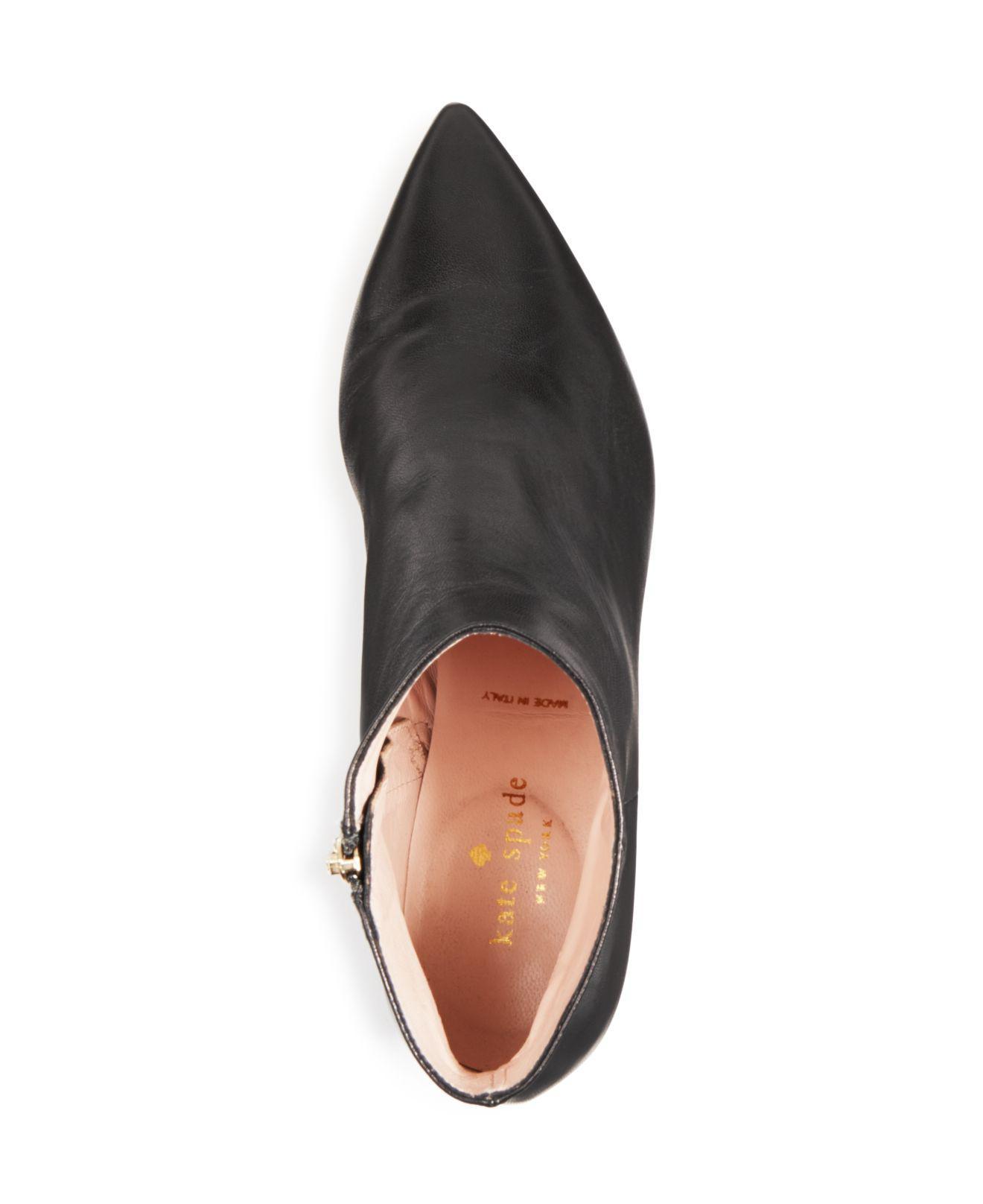 9abaf42fee1b Lyst - Kate Spade Women s Olly Leather Booties in Black