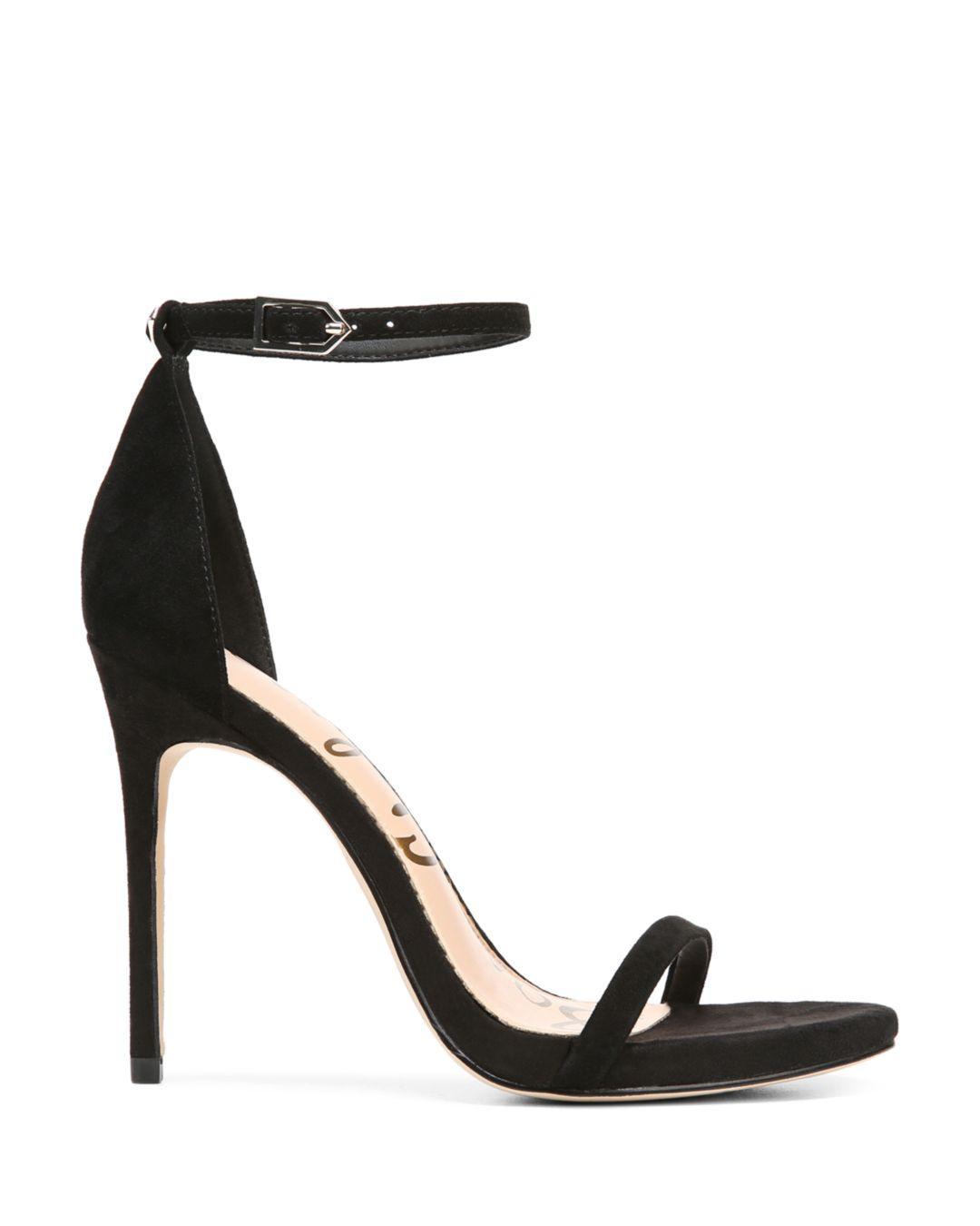 61b552427a81 Lyst - Sam Edelman Women s Ariella High-heel Ankle Strap Sandals in Black -  Save 67%