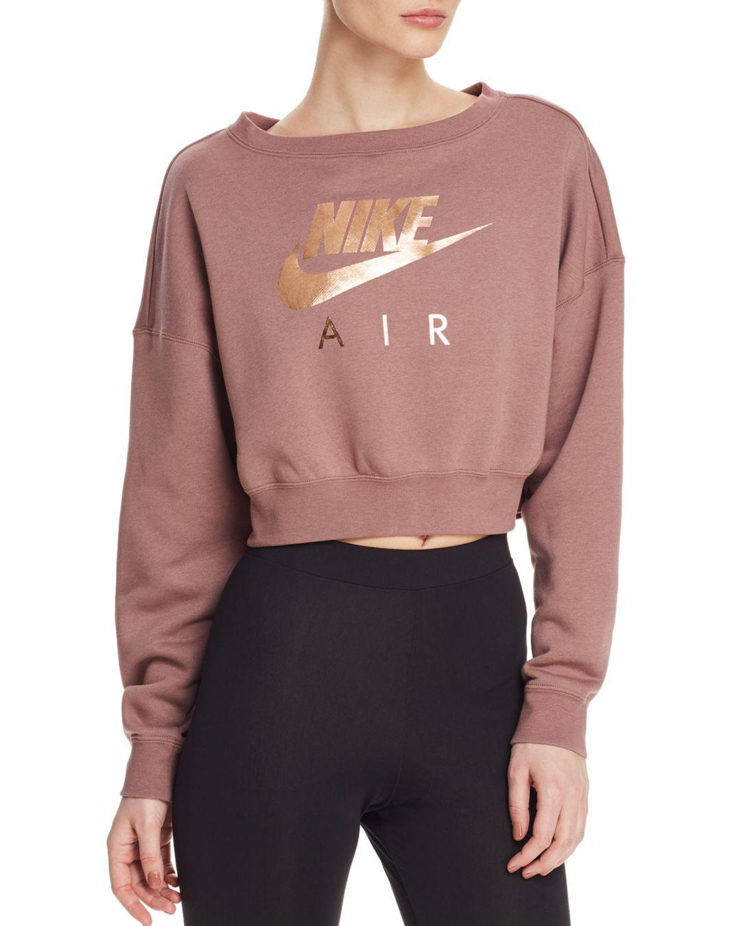 41bb8687dd9ec Nike. Women s Rally Air Cropped Sweatshirt