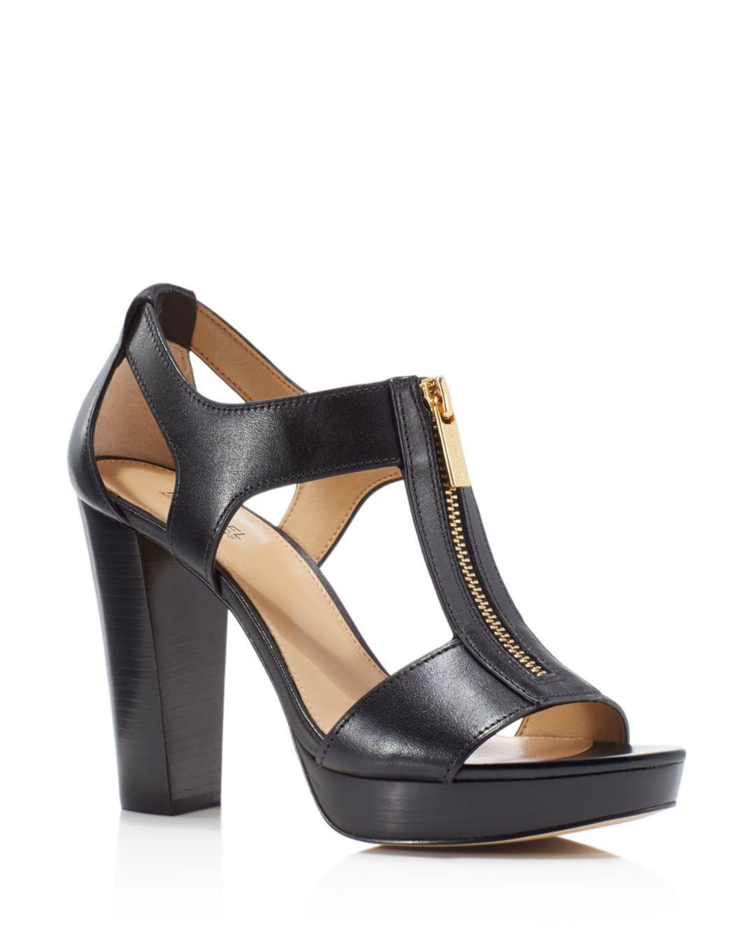 Lyst - Michael Kors Berkley T-strap Platform Dress Sandals