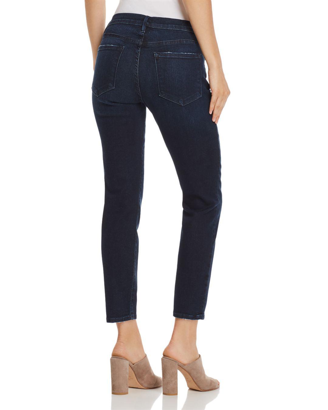 65c8870cfa852 Lyst - FRAME Le Skinny De Jeanne Cropped Jeans In Lauretta in Blue