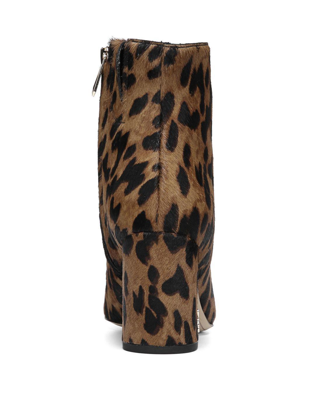 b4dc740a8 Sam Edelman - Brown Women s Hilty Leopard Print Calf Hair Booties - Lyst.  View fullscreen