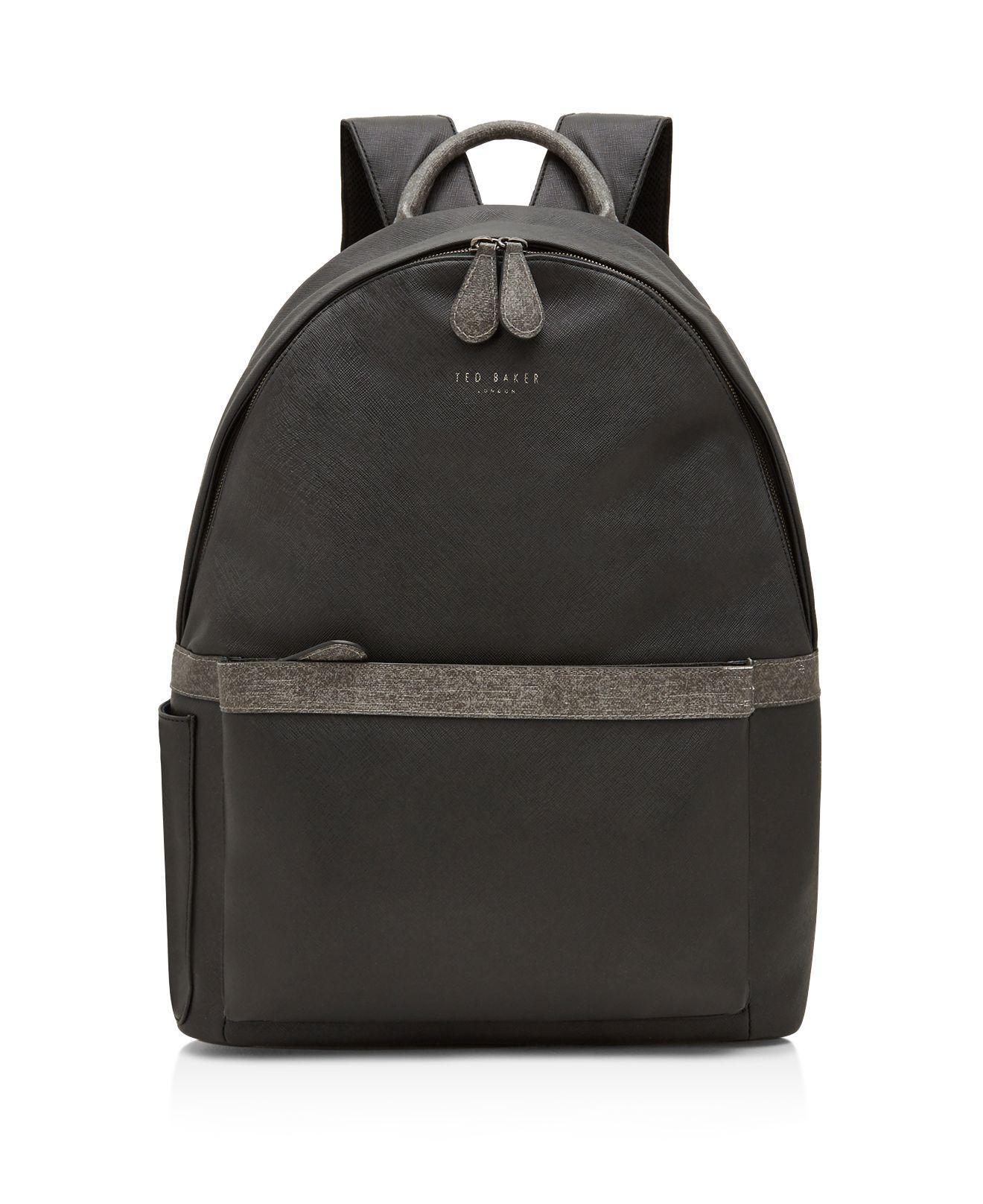 d76ad0f0eaea Lyst - Ted Baker Fangs Crossgrain Backpack in Black for Men