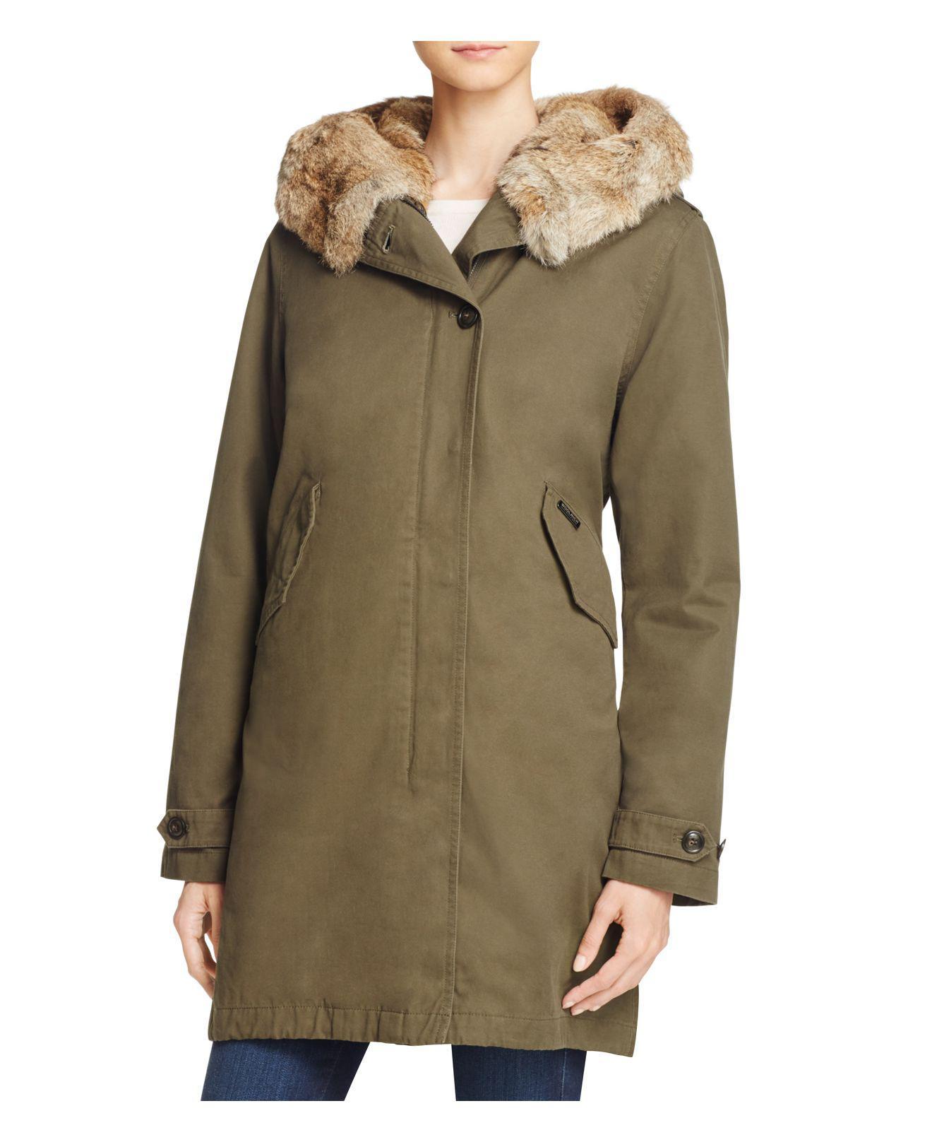 lyst woolrich banff eskimo fur trimmed parka in green save 1. Black Bedroom Furniture Sets. Home Design Ideas