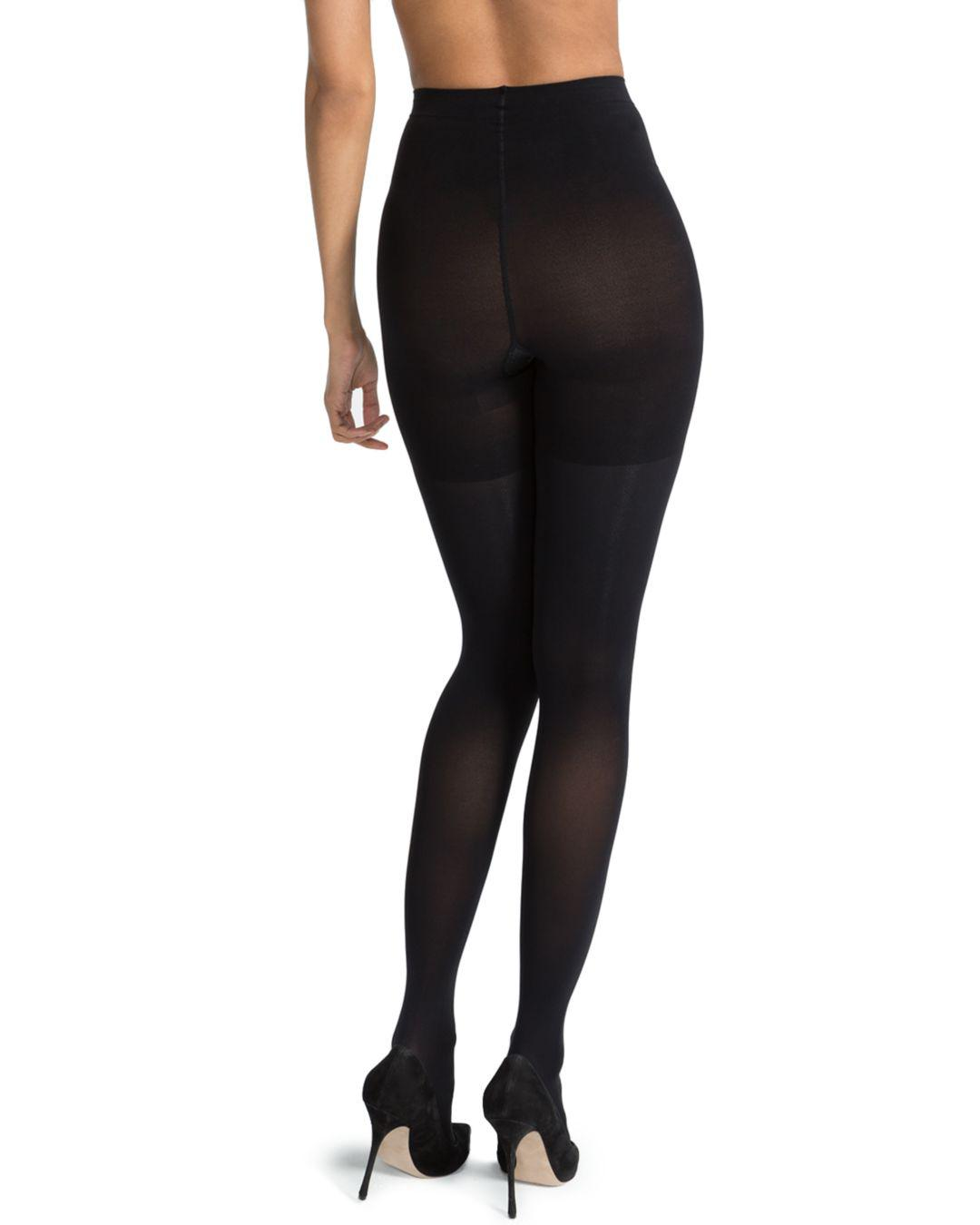 a7a1fe80554 Lyst - Spanx Luxe Leg Tights in Black - Save 26%