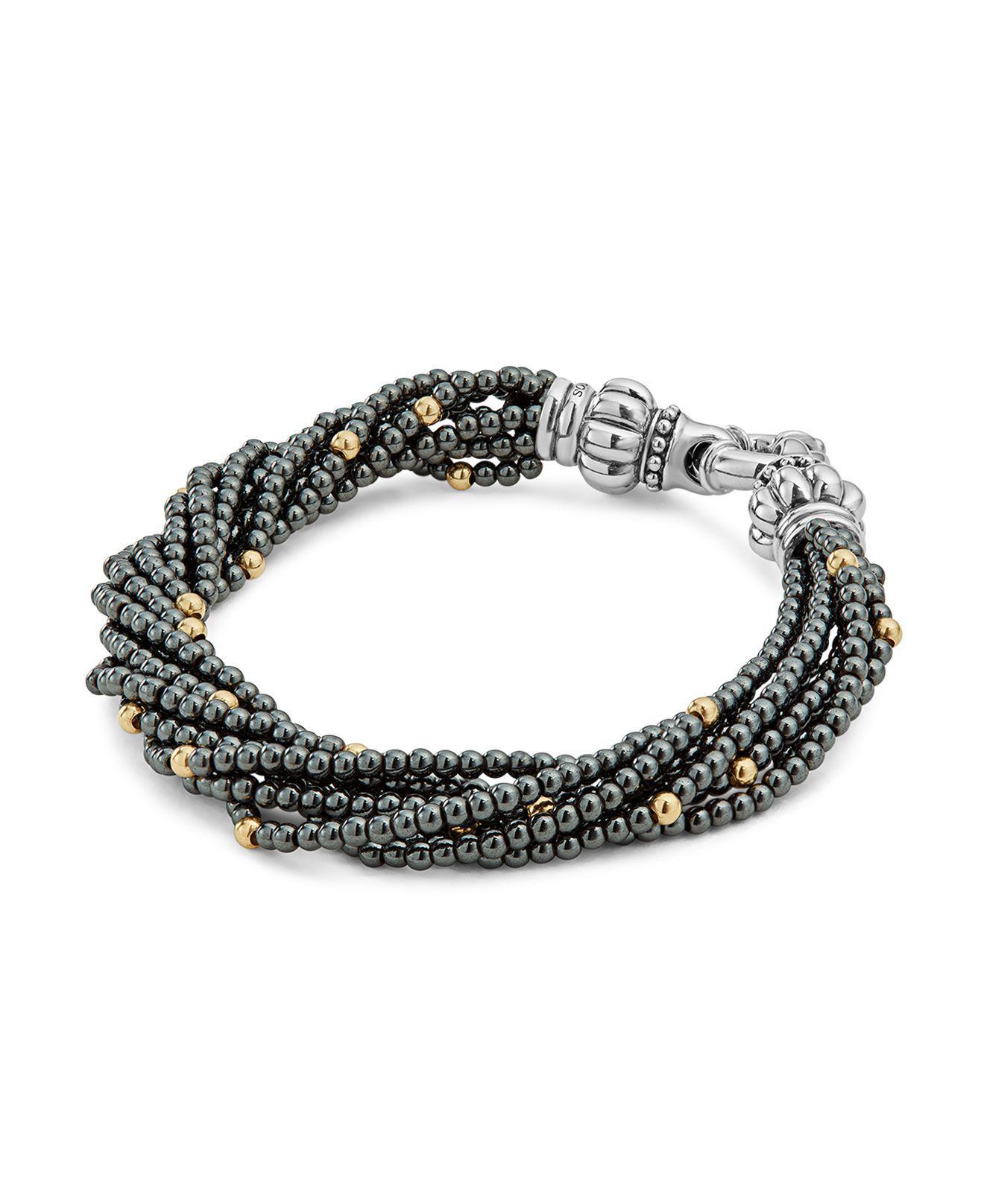 Lagos Caviar Icon Beaded Stretch Bracelet TG4eYAW