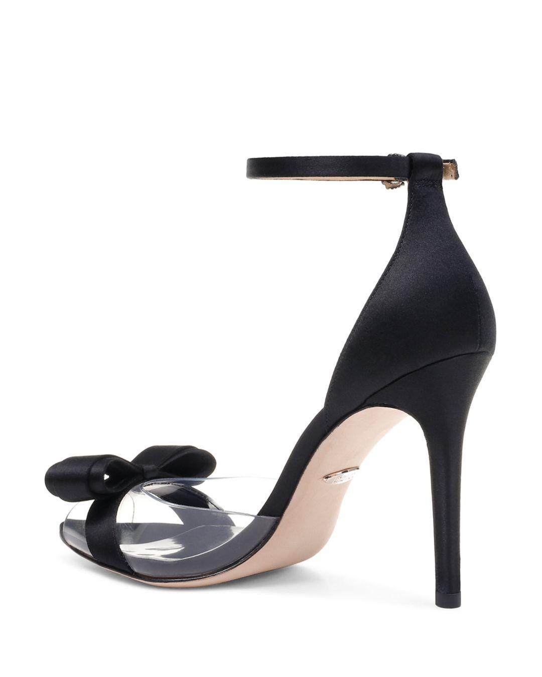 b0159444a8 Badgley Mischka Women's Lindsay Clear Peep Toe Pumps - Lyst