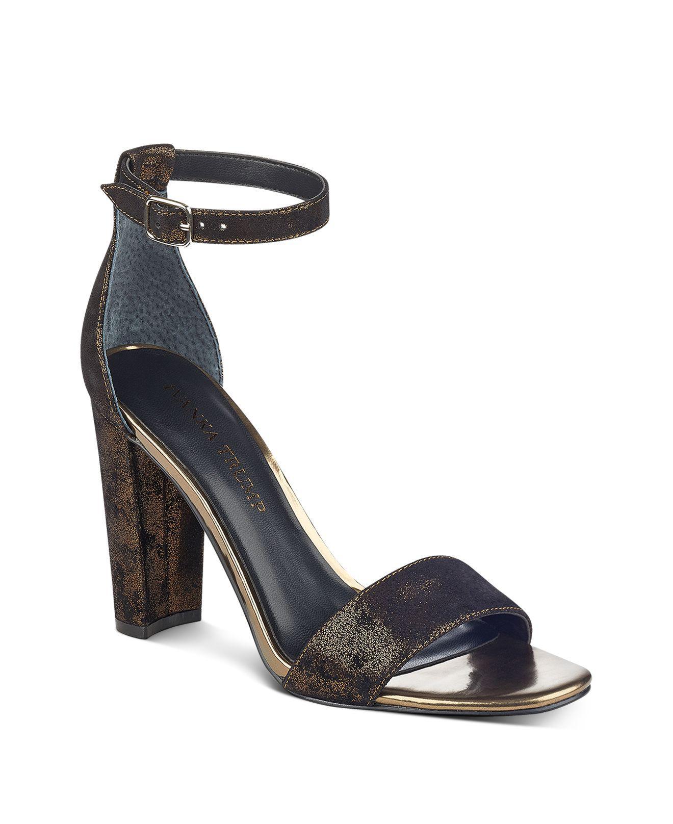 Ivanka Trump Emalyn Satin Ankle Strap Sparkle Heel Sandals OUPVl0