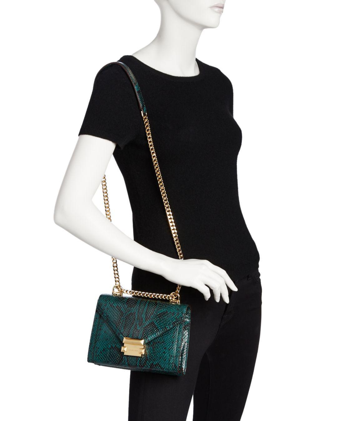 eeedd7dfb400 MICHAEL Michael Kors Whitney Small Leather Shoulder Bag - Lyst