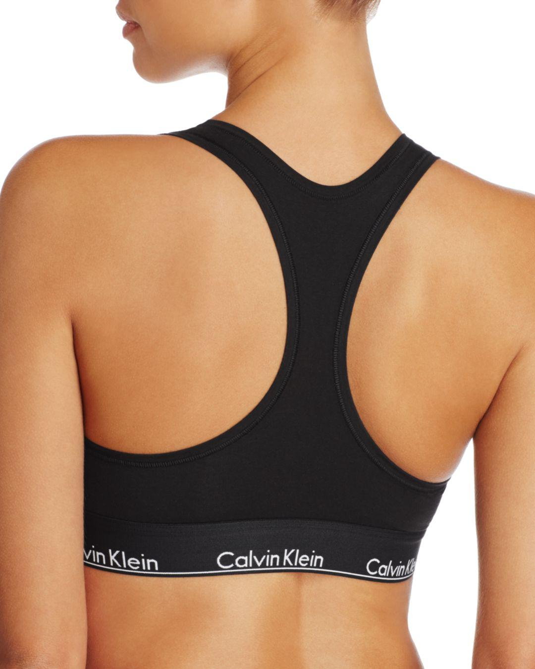 e0cc3ae9bbb80 Lyst Calvin Klein Black Bralette Bikini Top In Black