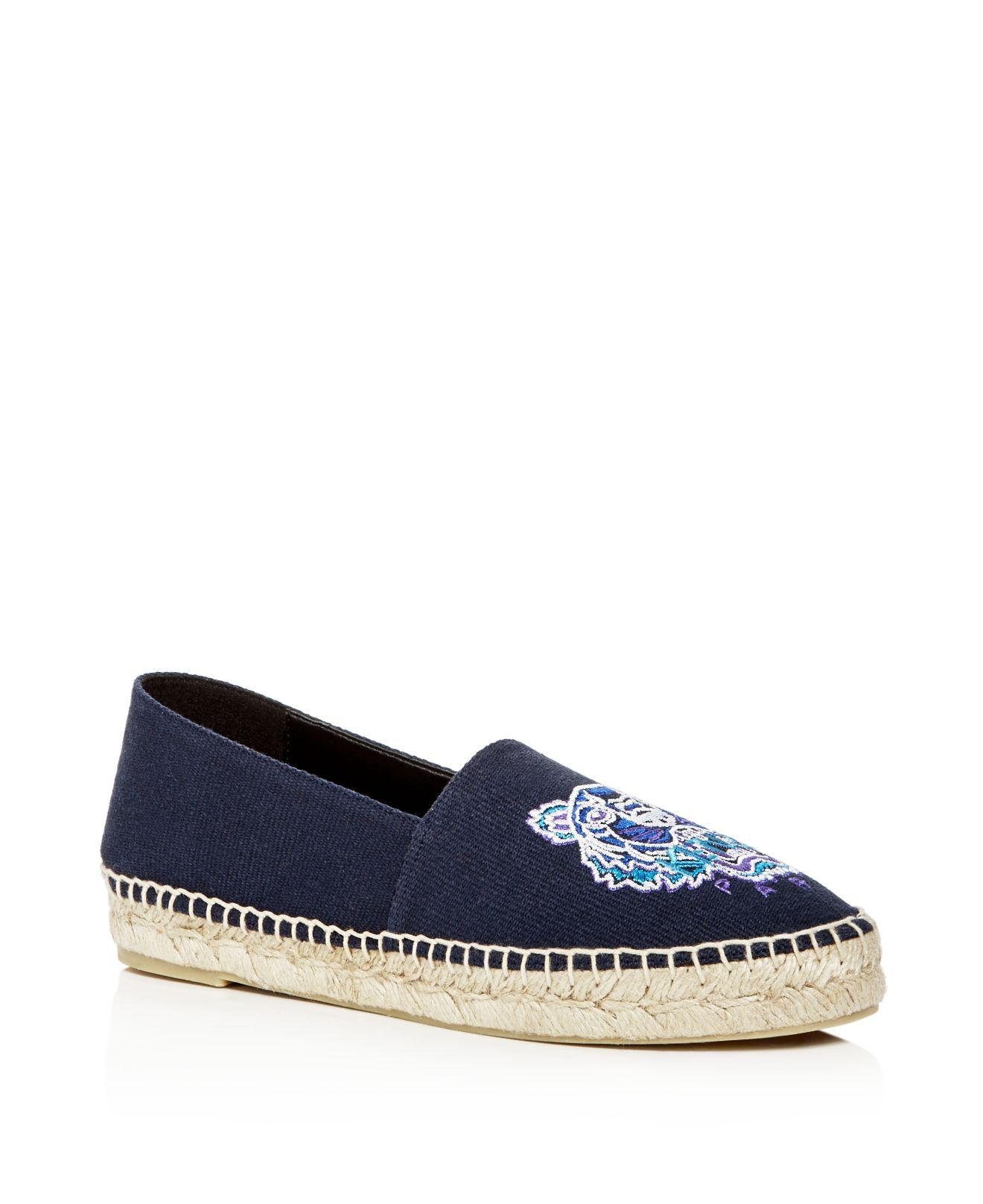 Kenzo Women's Classic Tiger Embroidered Espadrille Flats