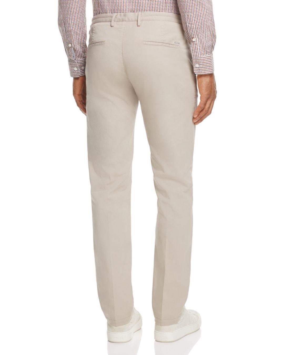 536943aa3 BOSS Hugo Boss Rice Slim Fit Chino Pants in Natural for Men - Lyst